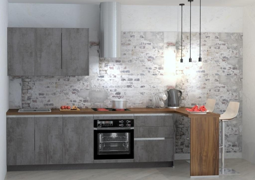 RIVA бетон серый шифер